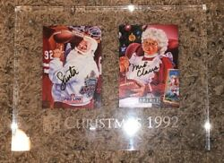 1992 Pro Line Portraits Santa And Mrs Claus Certified Signed Set