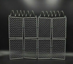 1 6 Scale Barbed Wire Fence Prison Fence Removable For 12quot; Scene Action Figure