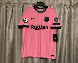 Fc Barcelona 20/21 Third 10 Messi Nike Vaporknit Soccer Jersey Size Large Nwt