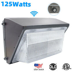 125w Wall Pack Light 5500k With Photocell Dusk To Dawn Garage Lighting Ip65
