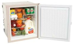 Norcold 3-way Refrigerator Built-in Flange One Taupe Door Opens 180 Degrees