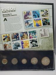 1940s A Century Of United States Coins And Stamps 90 Silver