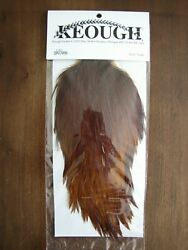 Fly Tying- Keough Tyerand039s Grade Dry Fly Rooster Cape - Brown A