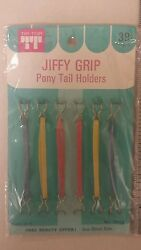 Vintage Ponytail Holders Jiffy Grip Unique Old Hard To Find Items Nice