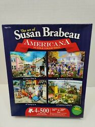 The Art Of Susan Brabeau - The Americana Puzzle Collection - 4 500pc Puzzles New