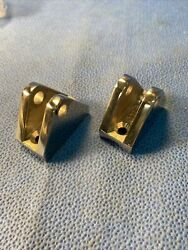 Pair Of Metal Rail Stanchion Middle Part Fittings For 7/8andrdquo Tubing Nos