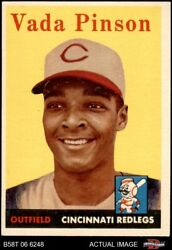 1958 Topps 420 Vada Pinson Reds 6 - Ex/mt