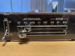 1970 Chevrolet Chevelle Malibu Ss Used A/c Ac Air Conditioning Heater Control