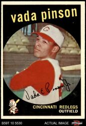 1959 Topps 448 Vada Pinson Reds 6 - Ex/mt