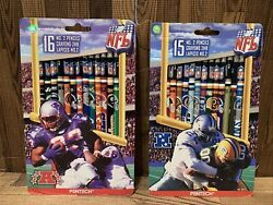 1998 Vintage Nfl Pentech No. 2 Pencils American And National Conference Teams