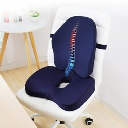 Memory Foam Waist Back And Seat Cushion Orthopedic Comfortable Office Chair Pillow