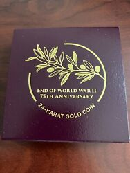 End Of World War Ii 75th Anniversary American Eagle 24k Gold Coin