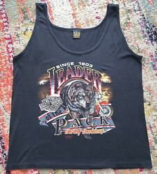 Nwot Vintage 90s Harley Davidson 3d Leader Of The Pack Tank Top Size Xl Tags New