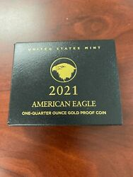 2021 1/4 American Eagle One-quarter Ounce Gold Proof Coin 21edn Type 2