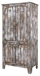 Amish Rustic Farmhouse Kitchen Pantry Cabinet Aged Distressed Pallet Solid Wood