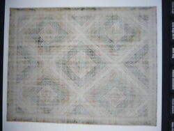 Pottery Barn Neva Indoor Rug 5x8 Ft Hand Knotted Green Multi