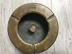 """Wwii Brass 5"""" Mk-5 38 Caliber Us Navy Marked Cannon Round Projectile Trench Art"""