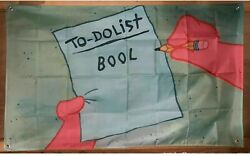 To Do List Bool Patrick Flags 3x5FT College Garage Dorm Decor 2021 Family NEW