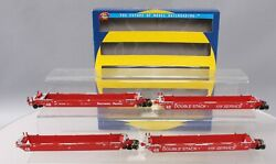 Athearn 91157 Ho Scale Southern Pacific Maxi Iii Well Car Set Set Of 5/box