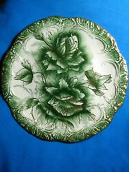 Myott And Son Co. Msandco Stokes Antique 9 Green/gold Dudley Plate 1898-1902