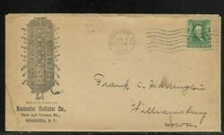 1904 Furnace Advertising Cover For Rochester Radiator Co. W/ Great Back Advertis