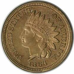 1864 Indian Cent Copper Nickel Choice Bu Uncertified 236