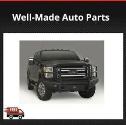 Fab Fours Black Steel Elite Full Guard Bumpers For Ford F250/350/450/550sd 11-15