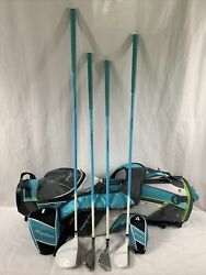 Tommy Armour Hotscot Junior Youth Golf Club Set And Stand Bag Teal Girls Boys