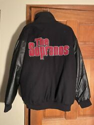 Rare Sopranos Leather Bomber Hbo Exclusive Merchandise Size Xl Collectible