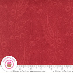 Moda CRANBERRIES amp; CREAM 44262 11 Red Paisley 3 SISTERS Quilt Fabric Christmas