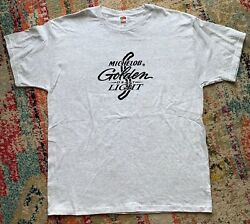 Vintage Michelob Golden Draft Light Beer 90s T-shirt Fruit Of The Loom Tags Xl