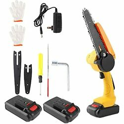 Mini Chainsaw Cordless Power Chain Saws 6-inch Portable One-hand Operated Ele...