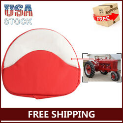 Tractor Seat Cushion Fit For Farmall H M 300 450 Cub H M Series Red White Padded