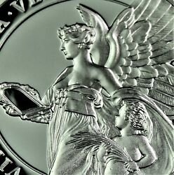 2021 St. Helena 1 Oz .999 Silver Andpound1 Queenand039s Virtues Truth Proof Coin Coa And Ogp