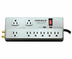 Furman Pst-2+6 8-outlet 15 Amp Power Conditioner Surge Protector Noise Filter