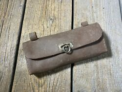 Vintage Antique Bike Bicycle Saddle Bag Tool Bag Leather Tool Pouch For Seat Use