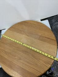 """Large 24"""" Wooden Tabletop Lazy Susan Turntable Farmhouse Decor 12lbs / 1"""" Thick"""