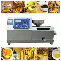 110v Automatic Oil Press Machine Stainless Steel Commercial Press Oil Extractor