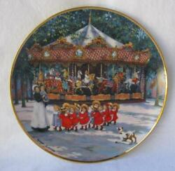 Franklin Mint Carousel Holiday Porcelain Collectors Plate By Sandi Lebron