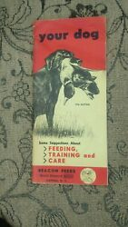 Beacon Feeds Your Dog Pamphlet Feeding Training And Care 1962 9th Edition