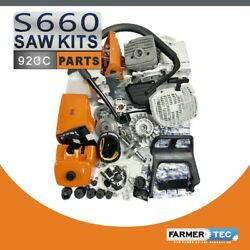 Complete Kit Engine Motor Cylinder Compatible With Stihl Ms660 066 Chainsaw