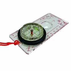 Deluxe Map Compass With Raised Base Plate And Swivel Bezel Hiking, Camping…