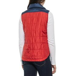 Duckworth Ladies Blue / Red Woolcloud Wool Insulated Vest Womens Size Xl New