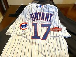 Authentic Chicago Cubs Kris Bryant Majestic Flex Base 2015 As Jersey Sf Giants