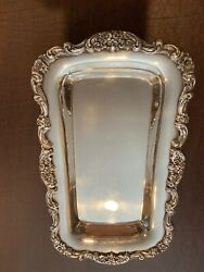 Vtg Poole Silver Plated Heavy 13 Butler Tray Lancaster Rose Ornate Floral
