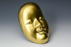 Kyoto Nice Vintage Colored Iron Noh Mask -young Lady- 小面 Ko-omote