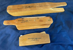 Vintage Lot - Set Of 3 Duck River Game Calls Box Turkey Call Spring Hill Tn Usa