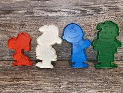 Peanuts Cookie Cutters Charlie Brown Snoopy Lucy Linus United Feature Lot Of 4