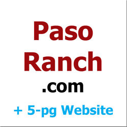Pasoranch.com - 19 Years Old Domain Name Plus 5-pg Html5 Website - Paso Ranch