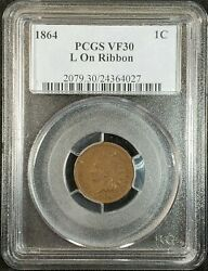 1864 L Indian Head Cent Pcgs Vf30 2079.30/24364027 Exquisite Coin Rare